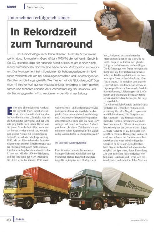 Reimund Koziollek Presseartikel Turnaround