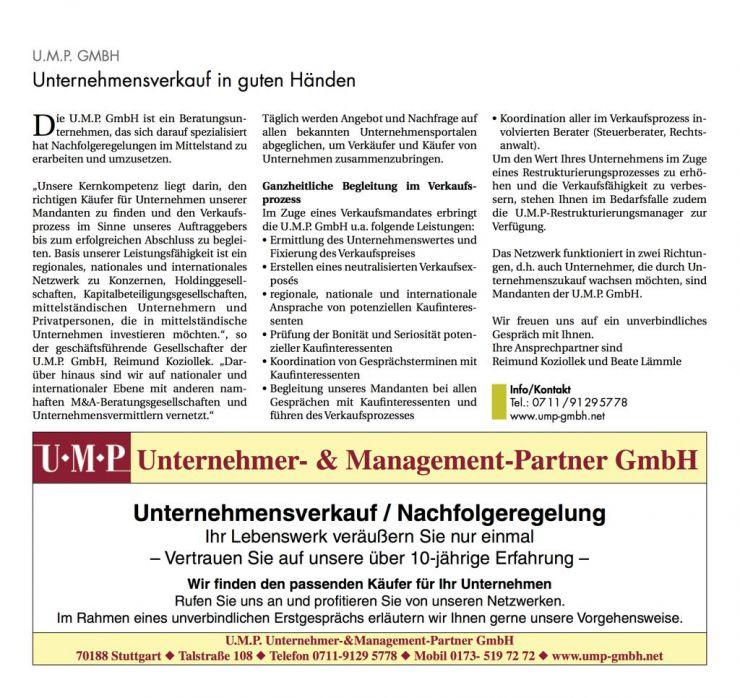 Reimund Koziollek Presseartikel UMP